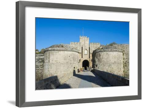Gate D'Amboise, the Medieval Old Town, City of Rhodes-Michael Runkel-Framed Art Print
