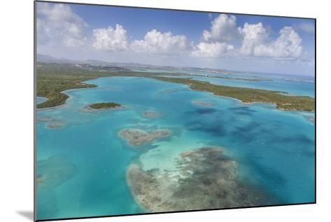 Aerial View of Sections of Reef Scattered Along the Rugged Coastline of Antigua-Roberto Moiola-Mounted Photographic Print