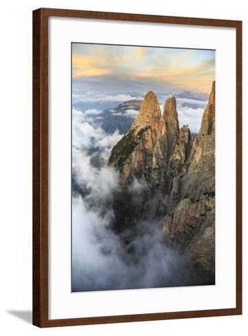 Aerial View of Santner Peak at Sunset-Roberto Moiola-Framed Art Print
