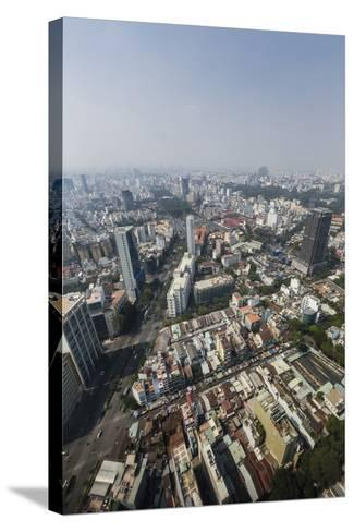 Aerial View of the City of Ho Chi Minh City (Saigon), from the Bitexco Financial Tower, Vietnam-Michael Nolan-Stretched Canvas Print