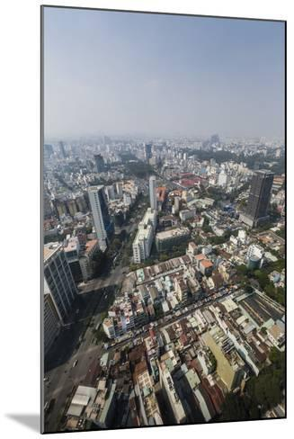 Aerial View of the City of Ho Chi Minh City (Saigon), from the Bitexco Financial Tower, Vietnam-Michael Nolan-Mounted Photographic Print