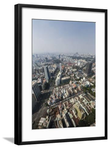 Aerial View of the City of Ho Chi Minh City (Saigon), from the Bitexco Financial Tower, Vietnam-Michael Nolan-Framed Art Print