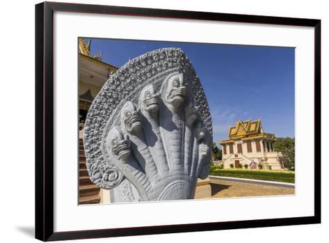 Hor Samran Phirun, Royal Palace, in the Capital City of Phnom Penh, on the Mekong River, Cambodia-Michael Nolan-Framed Art Print