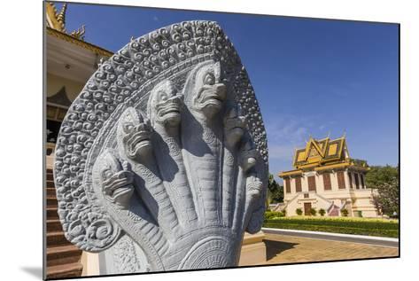 Hor Samran Phirun, Royal Palace, in the Capital City of Phnom Penh, on the Mekong River, Cambodia-Michael Nolan-Mounted Photographic Print
