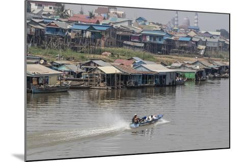 View of Life Along the Tonle Sap River Headed Towards Phnom Penh, Cambodia, Indochina-Michael Nolan-Mounted Photographic Print