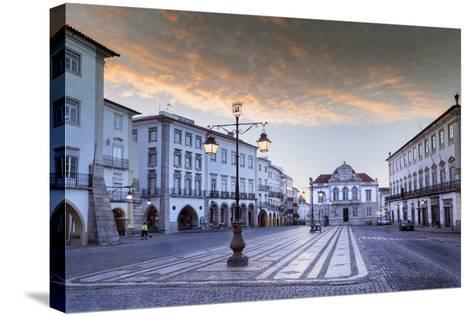 Giraldo Square (Praca Do Giraldo) in the Historic Centre, Evora, Alentejo, Portugal-Alex Robinson-Stretched Canvas Print