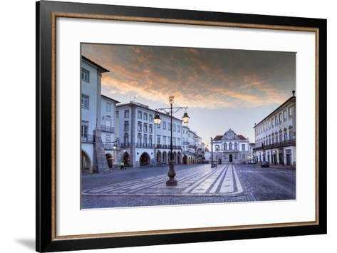Giraldo Square (Praca Do Giraldo) in the Historic Centre, Evora, Alentejo, Portugal-Alex Robinson-Framed Art Print