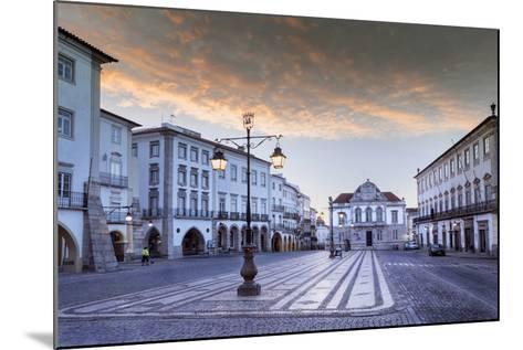 Giraldo Square (Praca Do Giraldo) in the Historic Centre, Evora, Alentejo, Portugal-Alex Robinson-Mounted Photographic Print