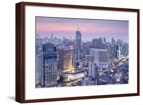 City Skyline Looking Along the Bts Skytrain-Alex Robinson-Framed Art Print