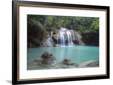 Erawan Falls, Kanchanaburi, Thailand, Southeast Asia, Asia-Alex Robinson-Framed Art Print