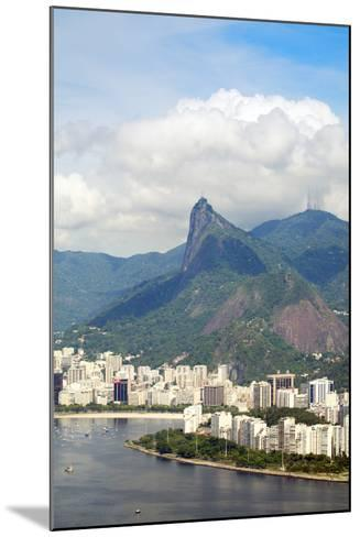 Aerial View of Botafogo Bay, Corcovadao and the Christ Statue, Rio De Janeiro, Brazil-Alex Robinson-Mounted Photographic Print