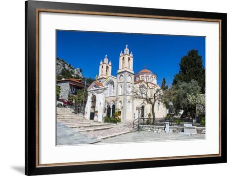 Church in Sianna Village, Rhodes, Dodecanese Islands, Greek Islands, Greece-Michael Runkel-Framed Art Print