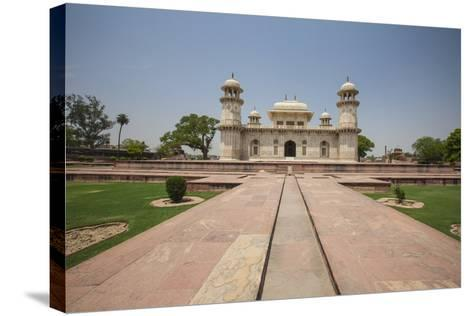 A Footpath Leads to the Sandstone Mausoleum of the Moghul Emperor Humayun-Roberto Moiola-Stretched Canvas Print