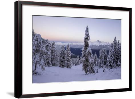 The Autumn Snowy Landscape, Casera Lake, Livrio Valley, Orobie Alps, Valtellina, Lombardy, Italy-Roberto Moiola-Framed Art Print