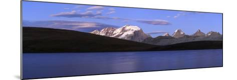 Panorama of the Gran Paradiso Range at Sunset from Lake Rossett-Roberto Moiola-Mounted Photographic Print