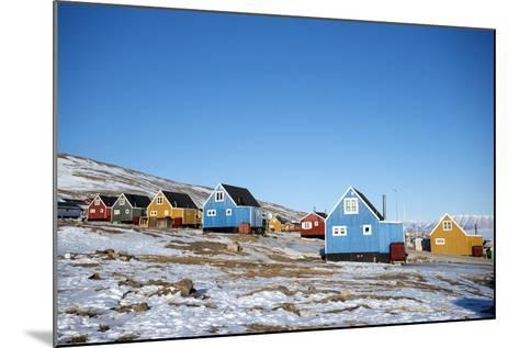 Colourful Wooden Houses in the Village of Qaanaaq-Louise Murray-Mounted Photographic Print