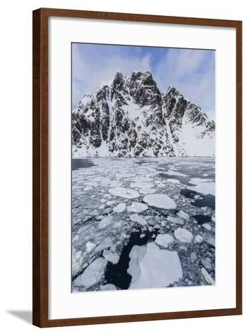 Ice Floes Choke the Waters of the Lemaire Channel, Antarctica, Polar Regions-Michael Nolan-Framed Art Print