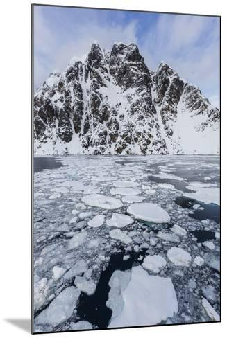 Ice Floes Choke the Waters of the Lemaire Channel, Antarctica, Polar Regions-Michael Nolan-Mounted Photographic Print