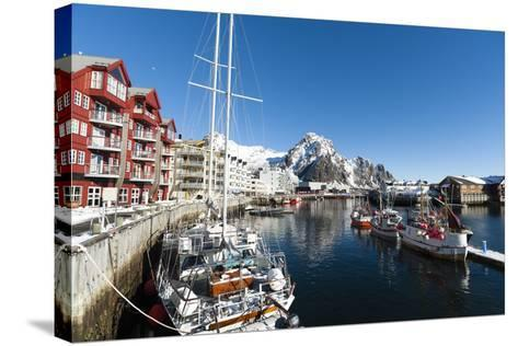 Svolvaer, Lofoten Islands, Nordland, Arctic, Norway, Scandinavia-Sergio Pitamitz-Stretched Canvas Print
