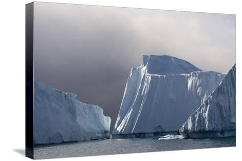 Icebergs in Ilulissat Icefjord, Greenland, Denmark, Polar Regions-Sergio Pitamitz-Stretched Canvas Print