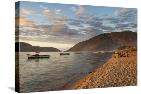 Sunset at Cape Maclear, Lake Malawi, Malawi, Africa-Michael Runkel-Stretched Canvas Print