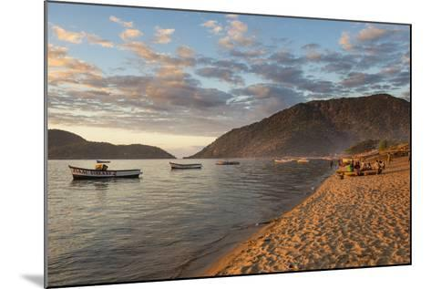 Sunset at Cape Maclear, Lake Malawi, Malawi, Africa-Michael Runkel-Mounted Photographic Print