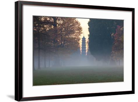 The Pagoda at Twilight in Kew Gardens, UNESCO World Heritage Site, Kew, Greater London, England, UK-Simon Montgomery-Framed Art Print