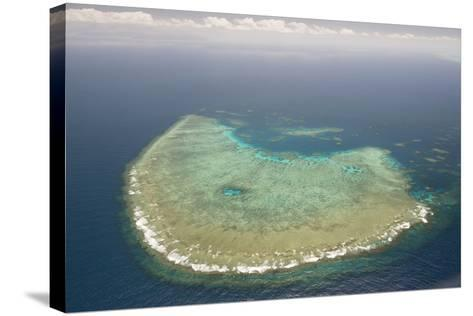 Aerial Photography of Coral Reef Formations of the Great Barrier Reef-Louise Murray-Stretched Canvas Print