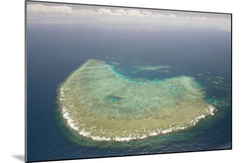 Aerial Photography of Coral Reef Formations of the Great Barrier Reef-Louise Murray-Mounted Photographic Print
