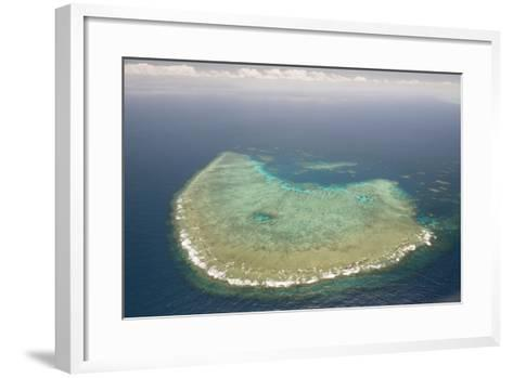 Aerial Photography of Coral Reef Formations of the Great Barrier Reef-Louise Murray-Framed Art Print