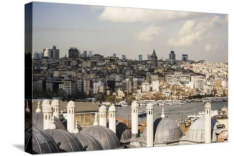 View of City Skyline from Suleymaniye Mosque, Istanbul, Turkey-Ben Pipe-Stretched Canvas Print