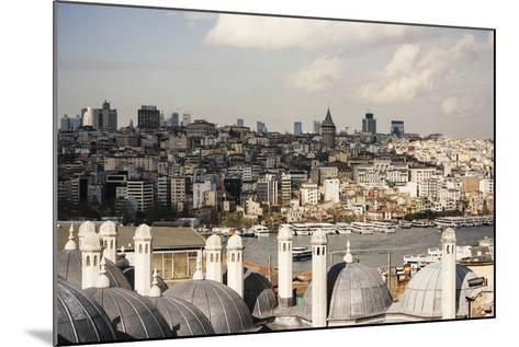 View of City Skyline from Suleymaniye Mosque, Istanbul, Turkey-Ben Pipe-Mounted Photographic Print