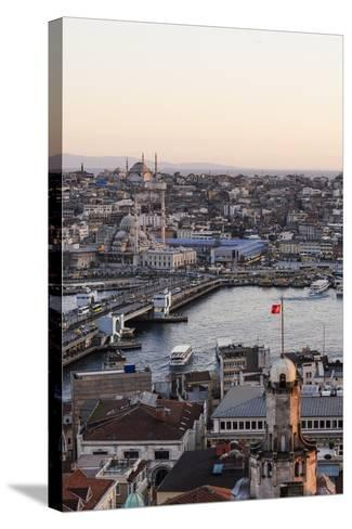 View over Istanbul Skyline from the Galata Tower at Sunset, Beyoglu, Istanbul, Turkey-Ben Pipe-Stretched Canvas Print