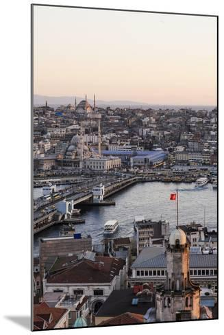 View over Istanbul Skyline from the Galata Tower at Sunset, Beyoglu, Istanbul, Turkey-Ben Pipe-Mounted Photographic Print