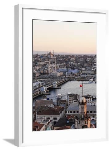 View over Istanbul Skyline from the Galata Tower at Sunset, Beyoglu, Istanbul, Turkey-Ben Pipe-Framed Art Print