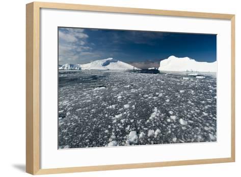 Icebergs in Ilulissat Icefjord, Greenland, Denmark, Polar Regions-Sergio Pitamitz-Framed Art Print