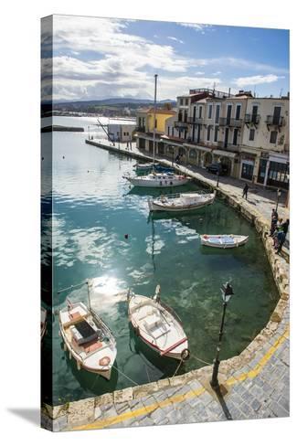 Venetian Harbour, Rethymno, Crete, Greek Islands, Greece, Europe-Michael Runkel-Stretched Canvas Print