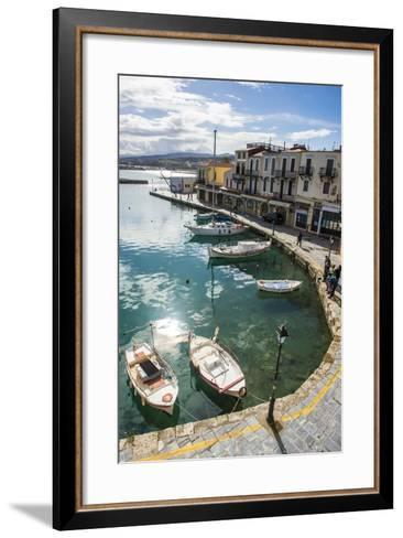 Venetian Harbour, Rethymno, Crete, Greek Islands, Greece, Europe-Michael Runkel-Framed Art Print