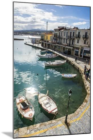 Venetian Harbour, Rethymno, Crete, Greek Islands, Greece, Europe-Michael Runkel-Mounted Photographic Print