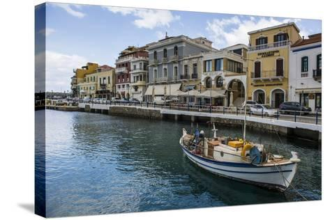 Lake Voulismeni, Agios Nikolaos, Crete, Greek Islands, Greece-Michael Runkel-Stretched Canvas Print