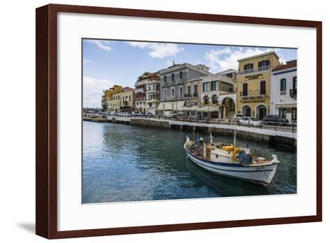 Lake Voulismeni, Agios Nikolaos, Crete, Greek Islands, Greece-Michael Runkel-Framed Art Print