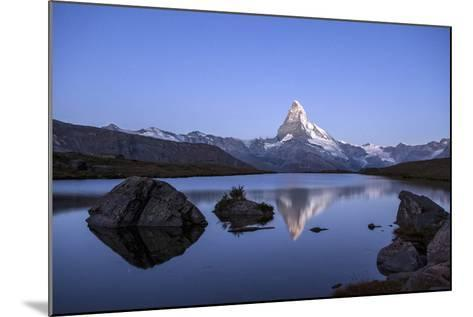 The Matterhorn Reflected in Stellisee at Sunrise-Roberto Moiola-Mounted Photographic Print