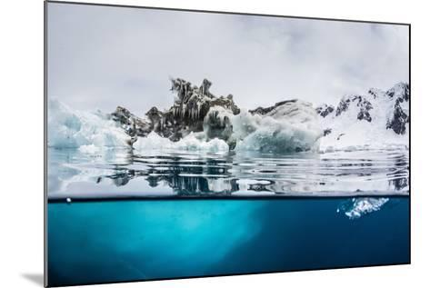 Above and Below Water View of Iceberg at Booth Island, Antarctica, Polar Regions-Michael Nolan-Mounted Photographic Print