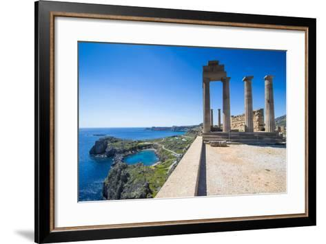 Acropolis of Lindos, Rhodes, Dodecanese Islands, Greek Islands, Greece, Europe-Michael Runkel-Framed Art Print
