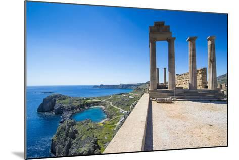 Acropolis of Lindos, Rhodes, Dodecanese Islands, Greek Islands, Greece, Europe-Michael Runkel-Mounted Photographic Print