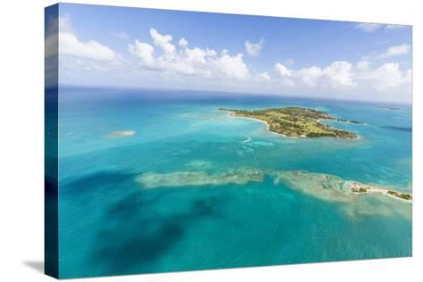 View of Long Island One of the Most Undisturbed in the World, Antigua, Leeward Islands, West Indies-Roberto Moiola-Stretched Canvas Print