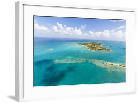View of Long Island One of the Most Undisturbed in the World, Antigua, Leeward Islands, West Indies-Roberto Moiola-Framed Art Print