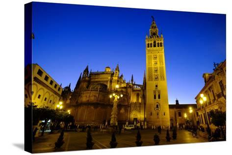 Seville Cathedral and Giralda, Seville, Andalucia, Spain-Carlo Morucchio-Stretched Canvas Print