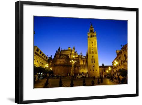 Seville Cathedral and Giralda, Seville, Andalucia, Spain-Carlo Morucchio-Framed Art Print