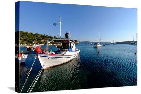 The Small Port and Beach of Posidonio, Samos Island, North Aegean Islands, Greek Islands, Greece-Carlo Morucchio-Stretched Canvas Print